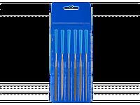 """Набор ЗУБР """"ЭКСПЕРТ"""" Надфили с алмазным напылением в пакете PVC, P 140, 140х75мм, 5 предметов"""