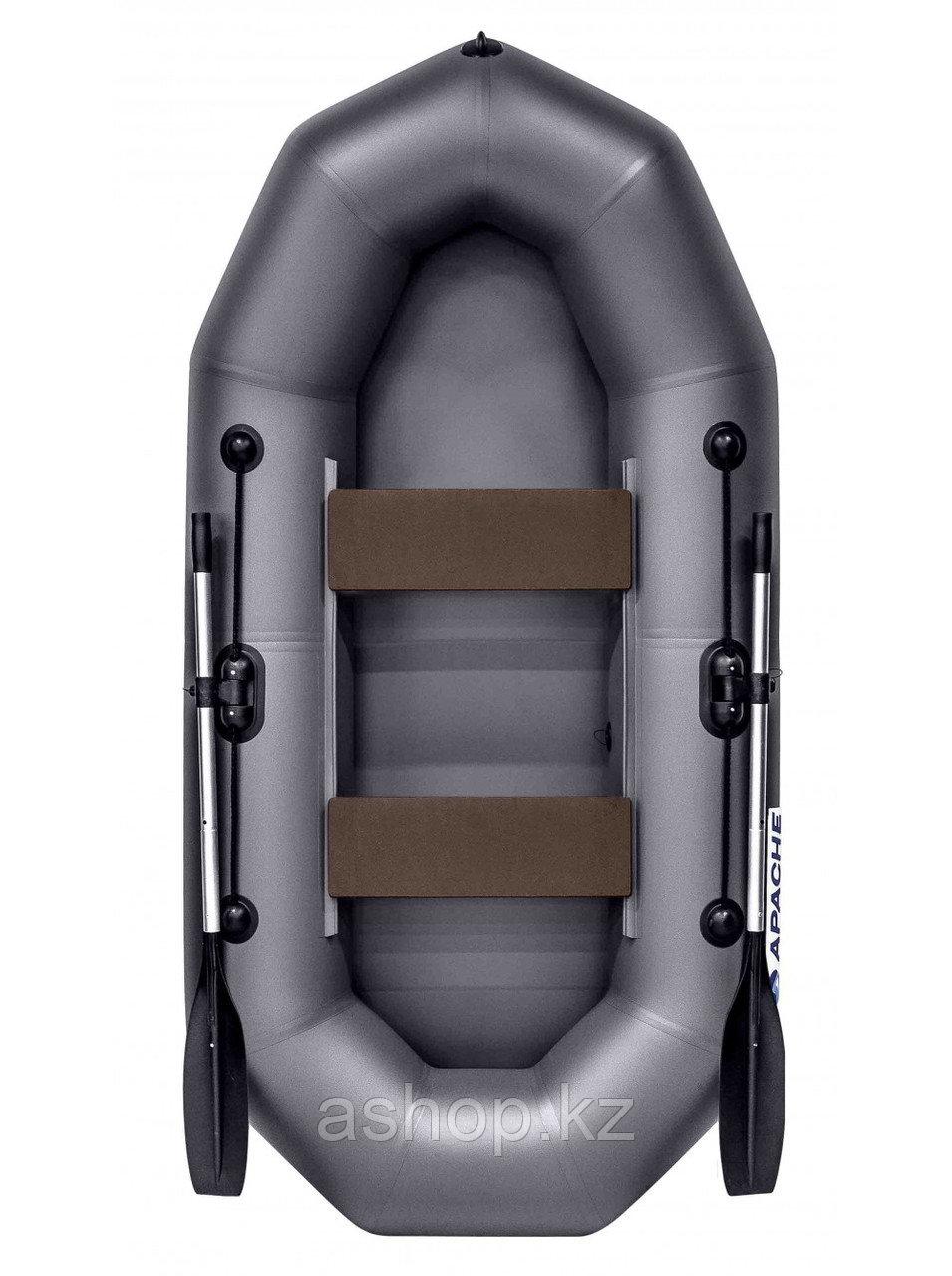 Лодка гребная надувная плоскодонная Apache  260, Грузоподъемность: 220кг, Вместимость: 2 чел., Кол-во отсеков: