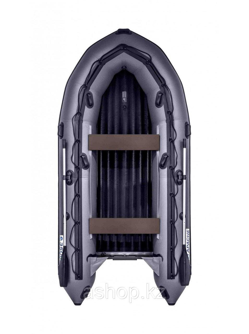 Лодка надувная моторно-гребная килевая Apache 3500 НДНД, Грузоподъемность: 650кг, Вместимость: 4 чел., Кол-во