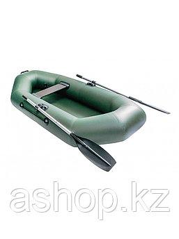 Лодка гребная надувная плоскодонная Rush 230, Грузоподъемность: 150кг, Вместимость: 1.5 чел., Кол-во отсеков: