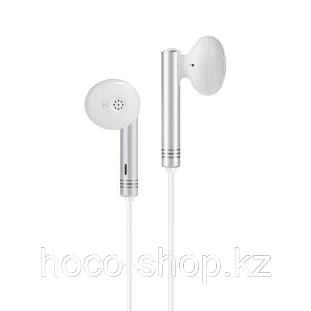 Проводные наушники M22 Hoco Spirited Rhyme wired earphones, white