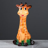 Копилка 'Жираф', глянец, бежевый цвет, 31 см
