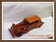 Модель автомобиля Citroen traktion 1938 г. из ценных пород дерева