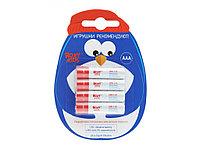 Элементы питания ROXY-KIDS, AAA 4 шт. Пингвин. Ultra Digital Premium