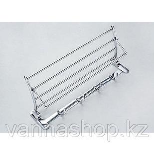 Вешалка для полотенец и халатов (серебро) (А-37)