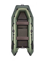 Гребная надувная лодка АКВА 3200 Слань-книжка зеленый, фото 1