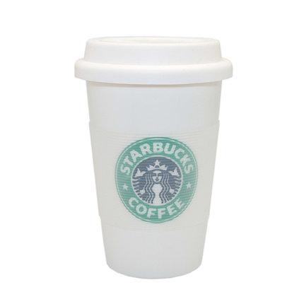 Кружка Starbucks с резиновой крышкой, фото 2