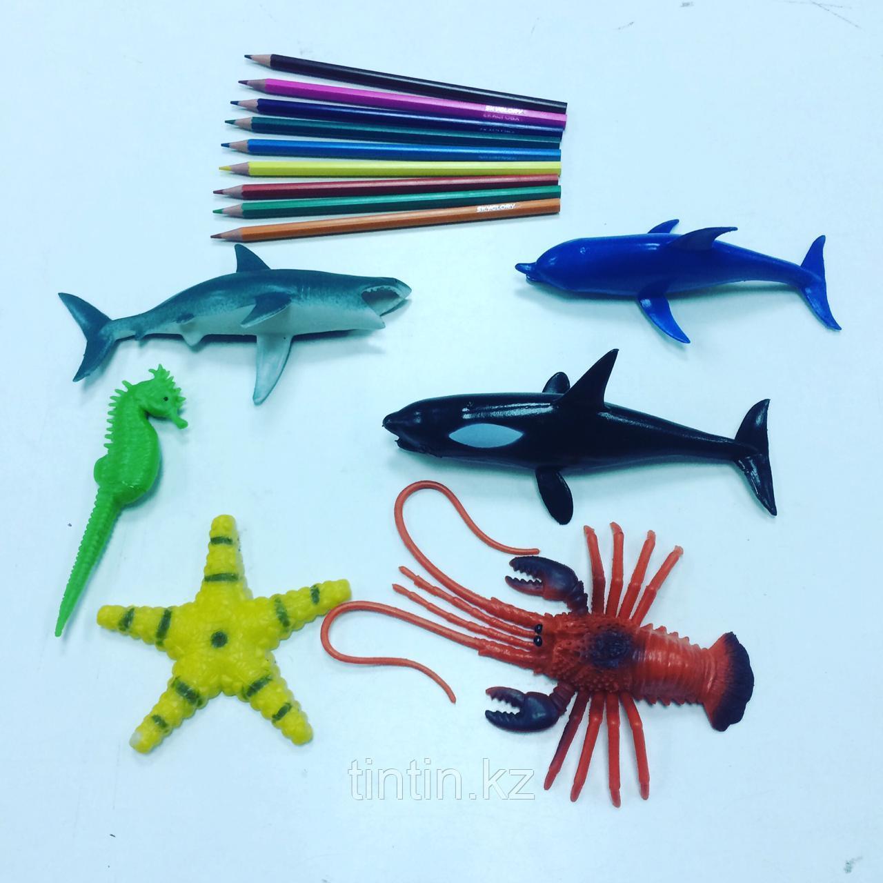 Набор из 6 резиновых морских обитателей