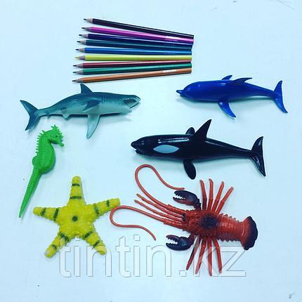 Набор из 6 резиновых морских обитателей, фото 2
