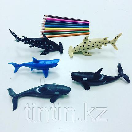 Набор из 5 резиновых морских обитателей, фото 2