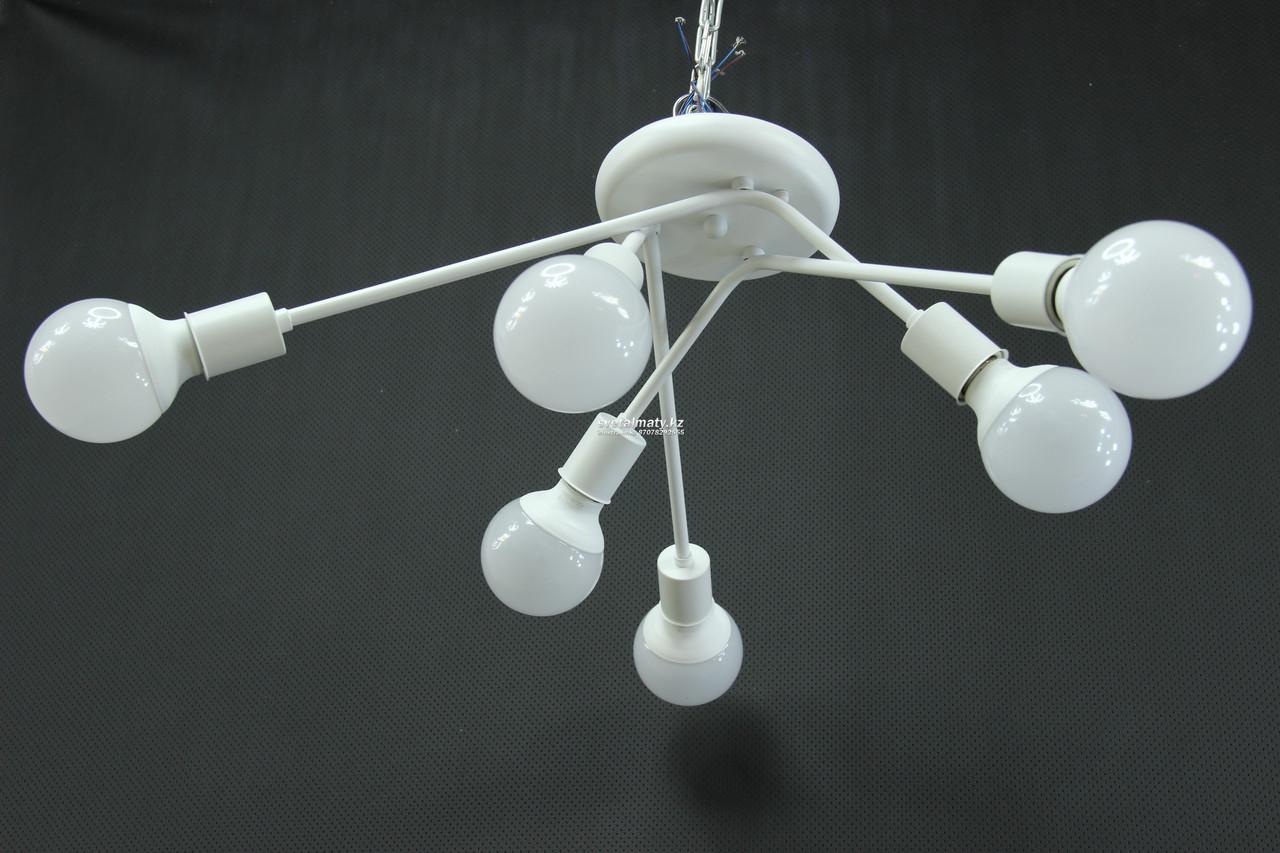 Люстра потолочная белая 6-ти ламповая в стиле Modern
