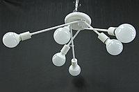 Люстра потолочная белая 6-ти ламповая в стиле Modern, фото 1