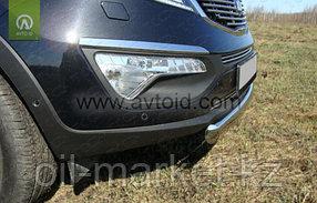 Защита переднего бампера, овальная для Kia Sportage (2010-2015), фото 2