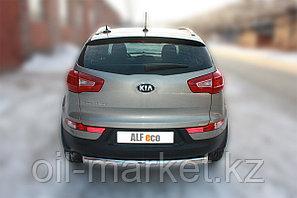 Защита заднего бампера, овальная для Kia Sportage (2010-2015), фото 2