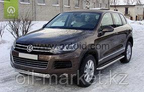 Защита переднего бампера, овальная для Volkswagen Touareg (2010-2014) (2014-2018), фото 2