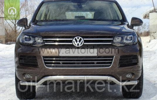 Защита переднего бампера, волна для Volkswagen Touareg (2010-2014) (2014-2018)