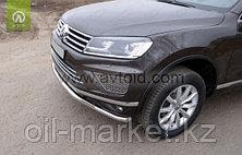 Защита переднего бампера, волна для Volkswagen Touareg (2010-2014) (2014-2018), фото 2