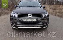 Защита переднего бампера, волна для Volkswagen Touareg (2010-2014) (2014-2018), фото 3