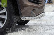 Защита переднего бампера, волна с защитой для Volkswagen Touareg (2010-2014) (2014-2018), фото 3