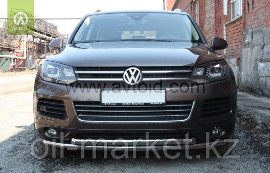 Защита переднего бампера, двойная для Volkswagen Touareg (2010-2014) (2014-2018)