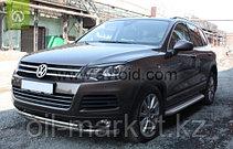 Защита переднего бампера, двойная для Volkswagen Touareg (2010-2014) (2014-2018), фото 3