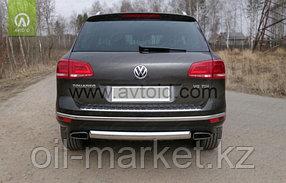 Защита заднего бампера, овальная для Volkswagen Touareg (2010-2014) (2014-2018), фото 2