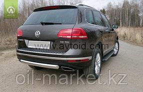 Защита заднего бампера, овальная для Volkswagen Touareg (2010-2014) (2014-2018), фото 3