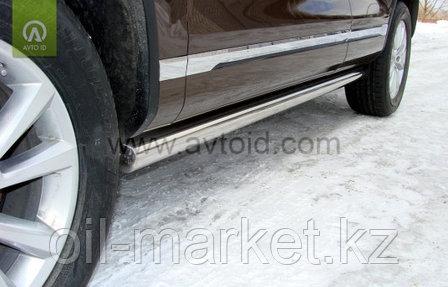 Пороги, труба  для Volkswagen Touareg (2010-2014) (2014-2018), фото 2