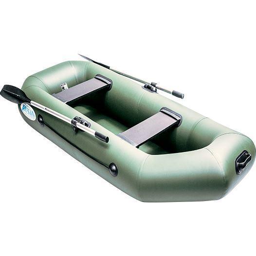 Лодка надувная гребная плоскодонная Rush 240, Грузоподъемность: 220кг, Вместимость: 2 чел., Кол-во отсеков: 2,
