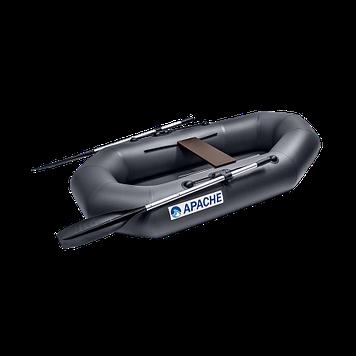 Лодка гребная надувная плоскодонная Apache 220, Грузоподъемность: 170кг, Вместимость: 1.5 чел., Кол-во отсеков