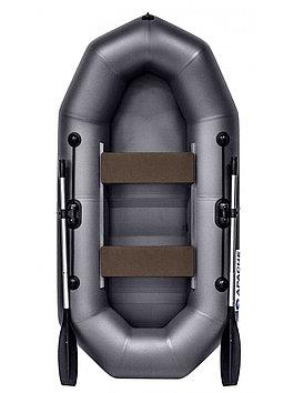 Лодка гребная надувная плоскодонная Apache  240, Грузоподъемность: 220кг, Вместимость: 2 чел., Кол-во отсеков: