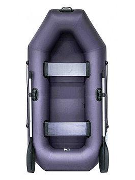 Лодка гребная надувная плоскодонная Rush 240 , Грузоподъемность: 220кг, Вместимость: 2 чел., Кол-во отсеков: 2