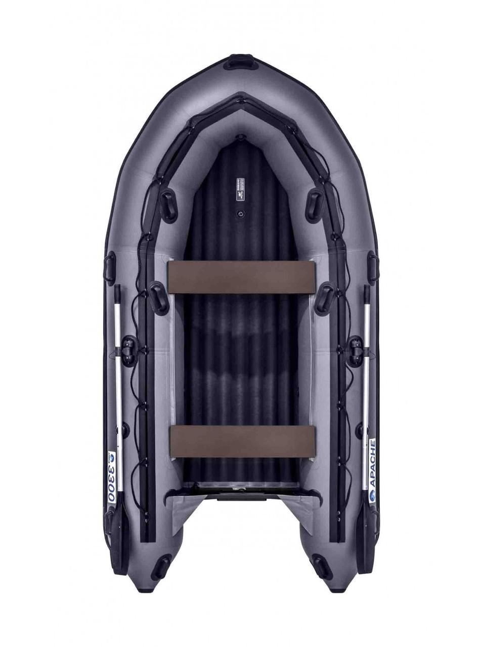 Лодка надувная моторно-гребная килевая Apache  3300НДНД, Грузоподъемность: 550кг, Вместимость: 3 чел., Кол-во