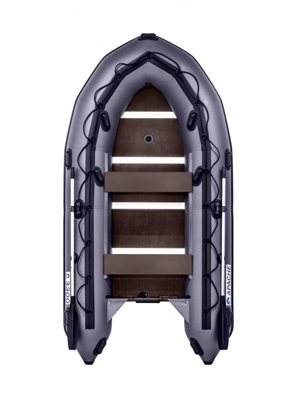 Лодка надувная моторно-гребная килевая Apache 3300 СК, Грузоподъемность: 550кг, Вместимость: 3 чел., Кол-во от