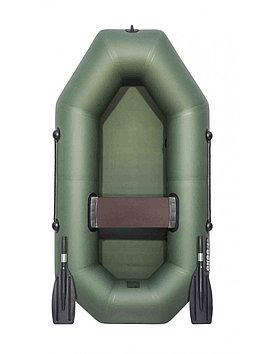 Лодка гребная надувная плоскодонная Аква Оптима 190, Грузоподъемность: 120кг, Вместимость: 1 чел., Кол-во отсе