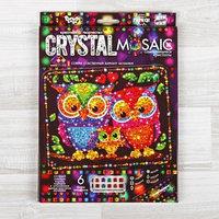 Набор для создания мозаики 'Совушки' CRYSTAL MOSAIC, на тёмном фоне