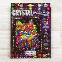 Набор для создания мозаики 'Кот' CRYSTAL MOSAIC, на тёмном фоне
