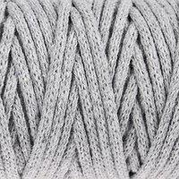 Шнур для рукоделия хлопковый 'Софтино' 100 хлопок 4 мм, 50м/140гр (св. серый)