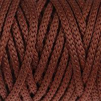 Шнур для рукоделия полиэфирный 'Софтино' 4 мм, 50м/110гр (коричневый)
