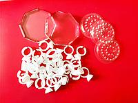 Лунки кольца и кристаллы для клея