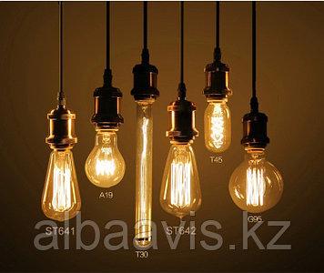 Лампы накаливания Эдисона,  лампы ретро-стиля, ретро лампы, винтажные лампы, старинные лампы, лампы эдисона