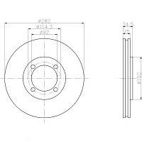 Тормозные диски Honda Accord (93-98 передние, Optimal, D282-4d)