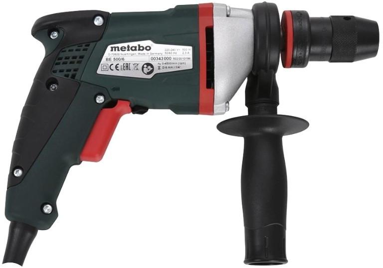 Дрель Metabo BE 500/6 (500вт 0-4500/мин) (600343000)