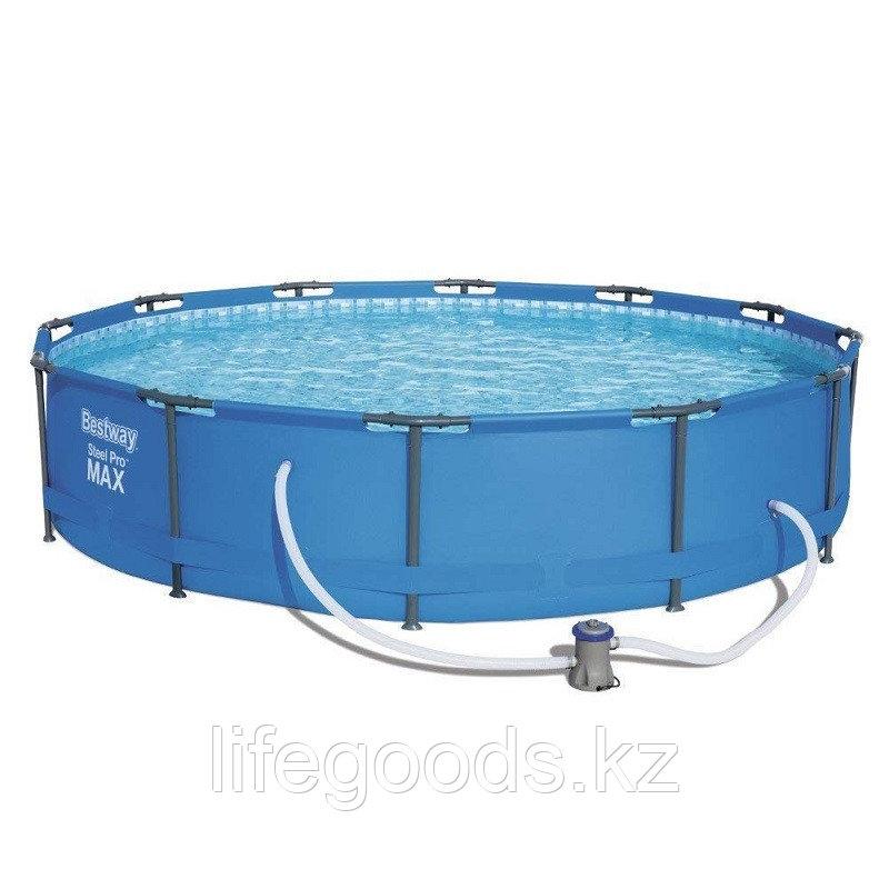Каркасный бассейн круглый 366х76 см с фильтр-насосом, Bestway 56416 - фото 2