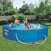 Каркасный бассейн круглый 366х76 см с фильтр-насосом, Bestway 56416