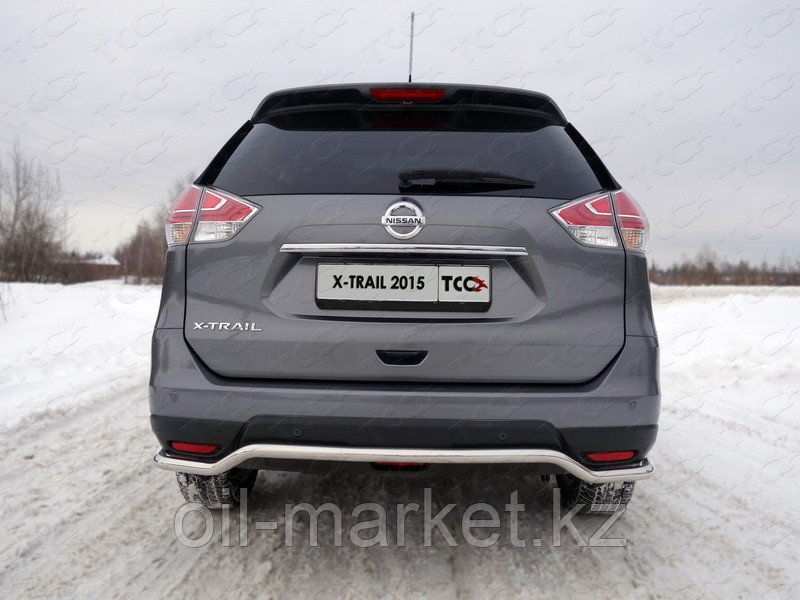 Защита заднего бампера, круглая волна для Nissan X-Trail T32 (2015-2018)