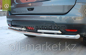 Защита заднего бампера, двойная для Nissan X-Trail T32 (2015-2018), фото 2