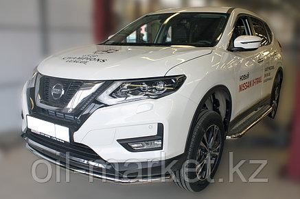 Защита переднего бампера, круглая для Nissan X-Trail  (2019-), фото 2
