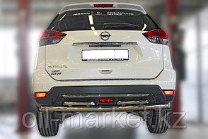 Защита заднего бампера,  двойная круглая для Nissan X-Trail  (2019-), фото 2