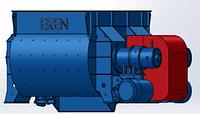 Двухвалковый бетоносмеситель BD-1000/750 комплектующий на БСУ